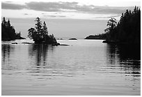 Dusk on Chippewa harbor. Isle Royale National Park ( black and white)