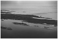 Aerial View of islands and Isle Royale. Isle Royale National Park ( black and white)