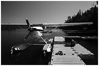 Seaplane dock. Isle Royale National Park ( black and white)