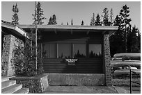 Rock Harbor Visitor Center. Isle Royale National Park ( black and white)