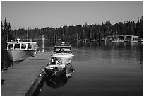 Snug Harbor marina. Isle Royale National Park ( black and white)
