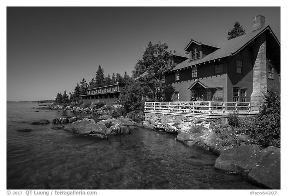 Rock Harbor Lodge. Isle Royale National Park (black and white)