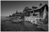 Rock Harbor Lodge. Isle Royale National Park ( black and white)