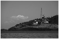 Passage Island Lighthouse 1882. Isle Royale National Park ( black and white)