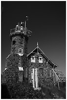 Lighthouse on Passage Island. Isle Royale National Park ( black and white)