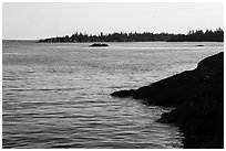 Outer islands from Tookers Island. Isle Royale National Park ( black and white)