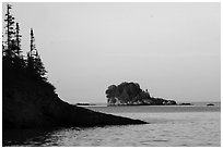 Outer islands and rocks from Tookers Island. Isle Royale National Park ( black and white)