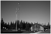 National Park Service headquarters, Mott Island. Isle Royale National Park ( black and white)
