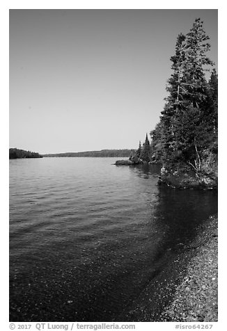 Beach, Caribou Island. Isle Royale National Park (black and white)