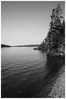 Beach, Caribou Island. Isle Royale National Park ( black and white)