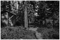 Shelter, Caribou Island. Isle Royale National Park ( black and white)