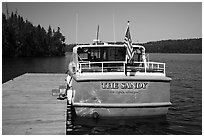 Tour boat Sandy. Isle Royale National Park ( black and white)