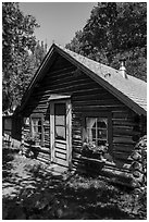 Bangsund Cabin. Isle Royale National Park ( black and white)