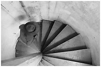 Walking up Rock Harbor Lighthouse staircase. Isle Royale National Park ( black and white)