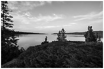 Moskey Basin, late afternoon. Isle Royale National Park ( black and white)