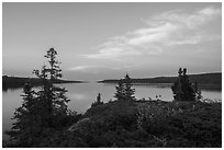 Moskey Basin, evening. Isle Royale National Park ( black and white)