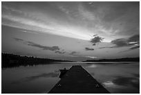 Dock and Moskey Basin, sunrise. Isle Royale National Park ( black and white)