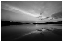 Sun rising over Moskey Basin,. Isle Royale National Park ( black and white)