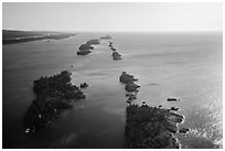 Aerial view of outer islands. Isle Royale National Park ( black and white)