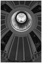 Dome roof interior, Old Courthouse. Gateway Arch National Park ( black and white)