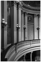 Rotunda upper floor, Old Courthouse. Gateway Arch National Park ( black and white)