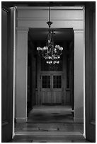 Hallway, Old Courthouse. Gateway Arch National Park ( black and white)