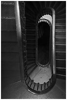 Looking down staircase, Old Courthouse. Gateway Arch National Park ( black and white)