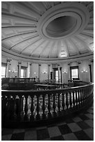 Circuit court 4 restored to 1850 appearance, Old Courthouse. Gateway Arch National Park ( black and white)
