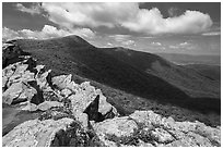 Crescent Rock and Hawksbill Mountain. Shenandoah National Park ( black and white)