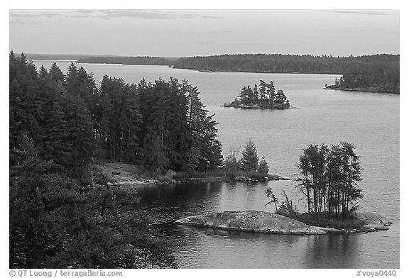 Anderson Bay. Voyageurs National Park (black and white)