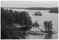 Anderson Bay. Voyageurs National Park ( black and white)