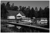 Kabetogama visitor center. Voyageurs National Park ( black and white)