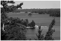 Kabetogama Lake Overlook, morning. Voyageurs National Park ( black and white)
