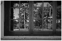 Kabetogama Lake window reflexion, Ash River visitor center. Voyageurs National Park ( black and white)