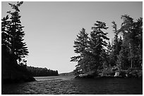 Kings Williams Narrows. Voyageurs National Park ( black and white)