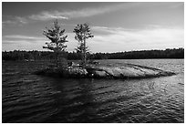 Islet, Grassy Bay. Voyageurs National Park ( black and white)