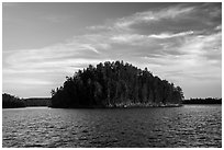 Island, Grassy Bay. Voyageurs National Park ( black and white)