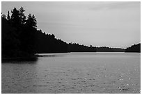 Mica Bay. Voyageurs National Park ( black and white)