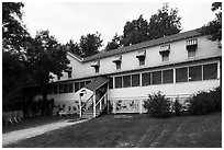 Kettle Falls Hotel. Voyageurs National Park ( black and white)