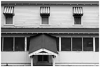 Kettle Falls Hotel facade. Voyageurs National Park ( black and white)