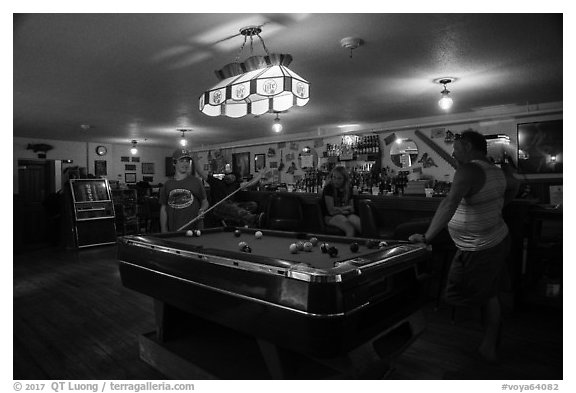 Bar, Kettle Falls Hotel. Voyageurs National Park (black and white)