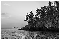 Cliff, Rainy Lake. Voyageurs National Park ( black and white)