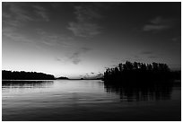 Anderson Bay at dawn. Voyageurs National Park ( black and white)