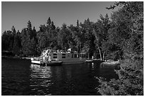 Houseboat, Rainy Lake. Voyageurs National Park ( black and white)