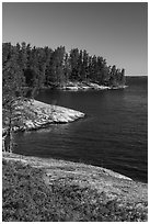 Windmill Rock Cove, Rainy Lake. Voyageurs National Park ( black and white)