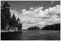 Browns Bay. Voyageurs National Park ( black and white)