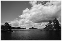 American Channel, Rainy Lake. Voyageurs National Park ( black and white)