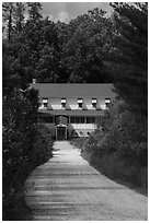 Path and Kettle Falls Hotel. Voyageurs National Park ( black and white)