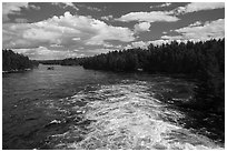 Below Kettle Falls. Voyageurs National Park ( black and white)