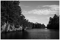 Namakan Narrows. Voyageurs National Park ( black and white)